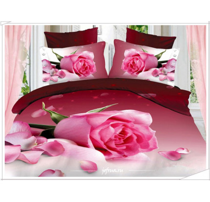 Постельное белье Karven 447 Розовая роза