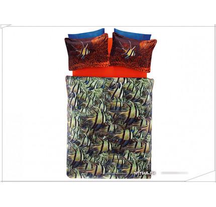 Постельное белье TAC Derin Tutku Cobalt евро