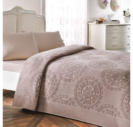 Набор с покрывалом Tivolyo Alfredo (коричневый) 2-спальный