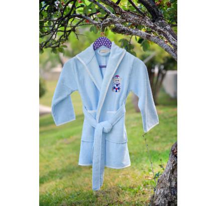 Детский халат Pupilla Kids (голубой)