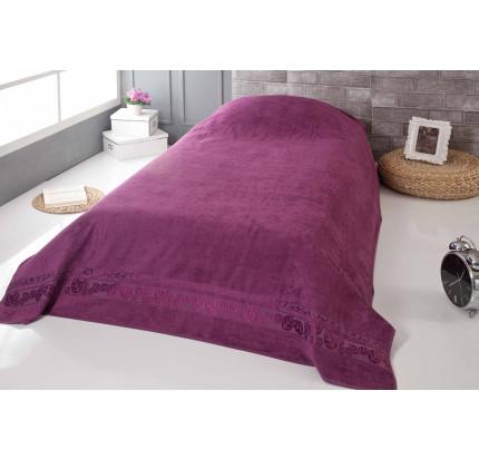 Покрывало-простынь Pupilla Modal Soft (фиолетовое) 160x220