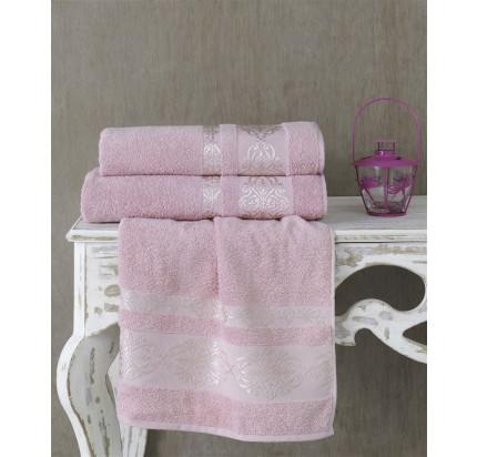 Полотенце Karna Rebeka (грязно-розовое)