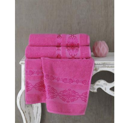 Полотенце Karna Rebeka (розовое)