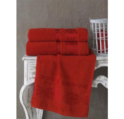 Полотенце Karna Rebeka (красное)