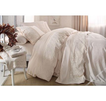 Свадебное постельное белье Gelin Home Sal (шампань) евро