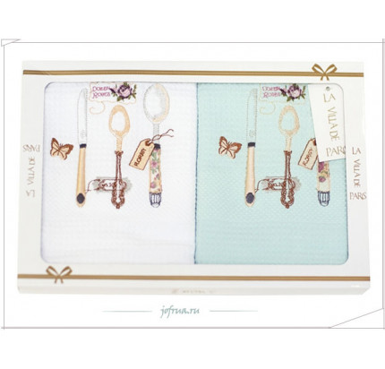 Салфетки La Villa Butterflyspoons (2 предмета, бирюзовый) 40х60
