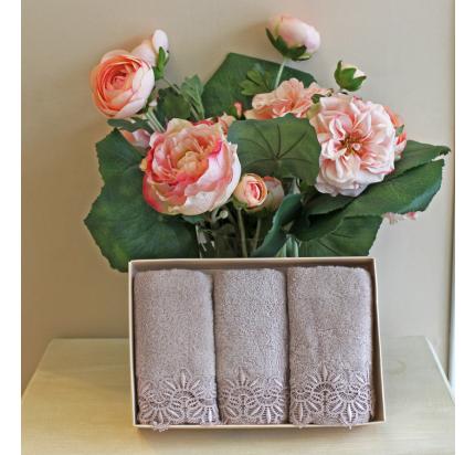 Салфетки Soft Cotton Victoria (лиловый, 3 предмета) 32x50