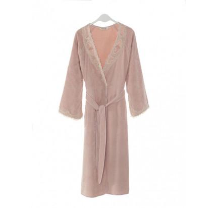 Халат женский Soft Cotton Destan (темно-розовый)