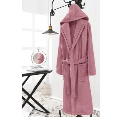 Халат женский Soft Cotton Stripe (фуксия)