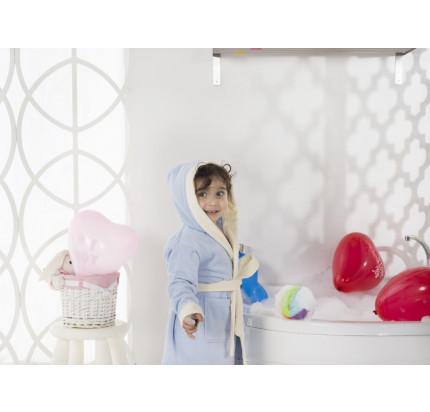Karna Snop детский халат с капюшоном (голубой)