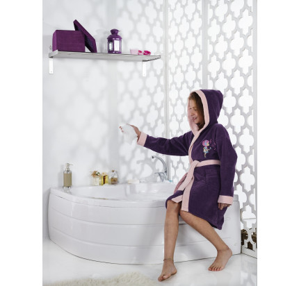 Karna Snop подростковый халат с капюшоном (фиолетовый)