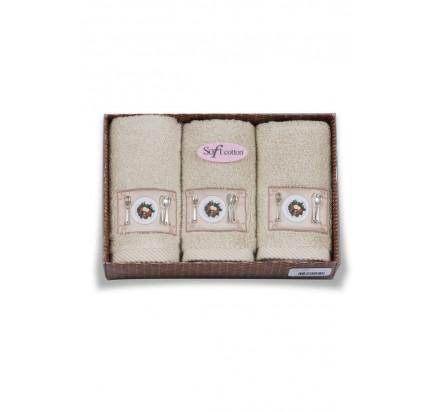 Салфетки для кухни Soft Cotton Kitchen (бежевый, 3 предмета) 32x50