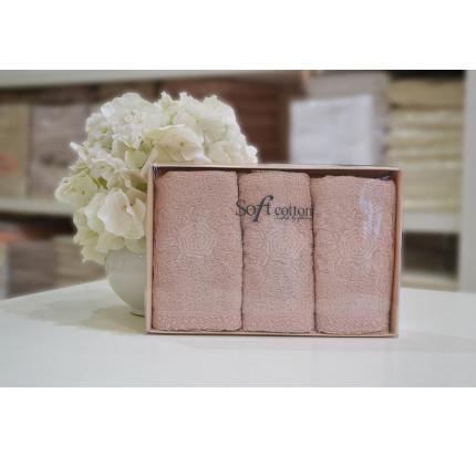 Салфетки Soft Cotton Yonca (розовый, 3 предмета) 32x50