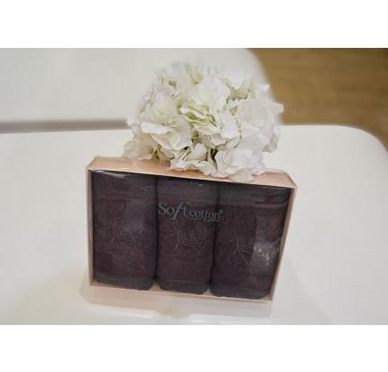 Салфетки Soft Cotton Yonca (фиолетовый, 3 предмета) 32x50