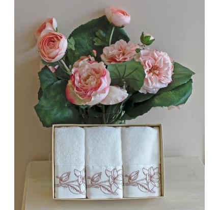 Салфетки Soft Cotton Viola (бронзовый, 3 предмета) 32x50