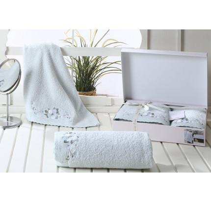Набор полотенец Karna Suena (ментоловый, 2 предмета)