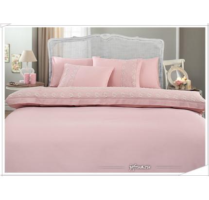 Свадебное постельное белье Gelin Home Bella (розовое) евро