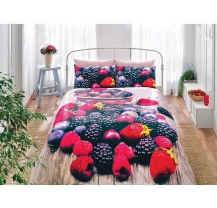 Постельное белье TAC 3D Berry 1.5-спальное
