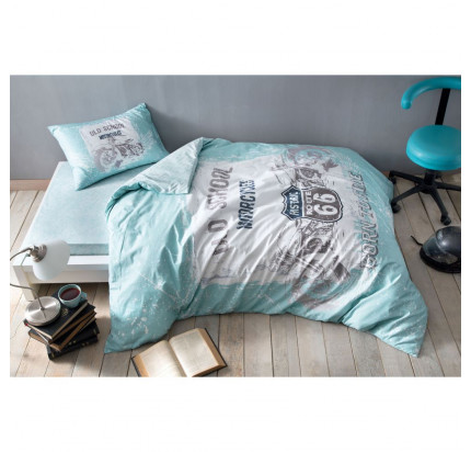 Постельное белье TAC Route (синий) 1.5-спальное