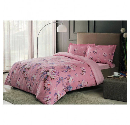 Постельное белье TAC сатин Rain V01-розовый