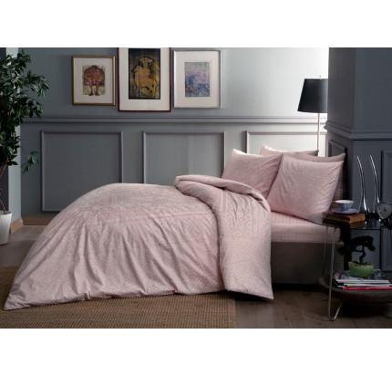 Постельное белье TAC сатин Fabian (розовое) евро