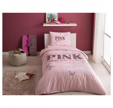 Постельное белье TAC Pink (розовый) 1.5-спальное