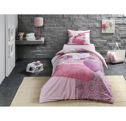 Постельное белье TAC Sherly (розовый) 1.5-спальное
