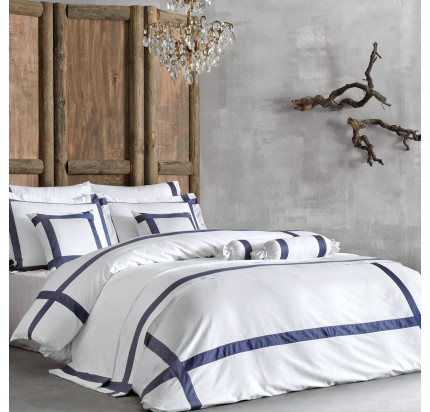 Постельное белье Tivolyo Home Banda (бело-синее)