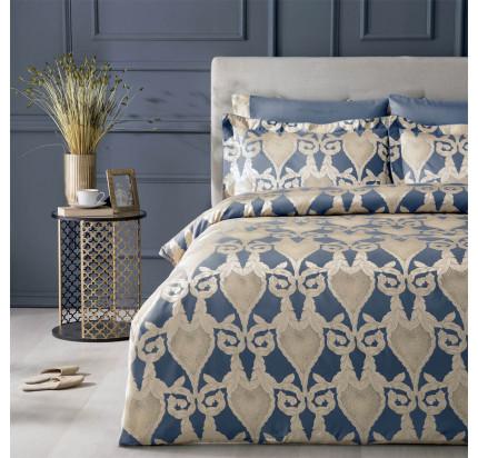 Постельное белье Tivolyo Home Berta (синий) евро