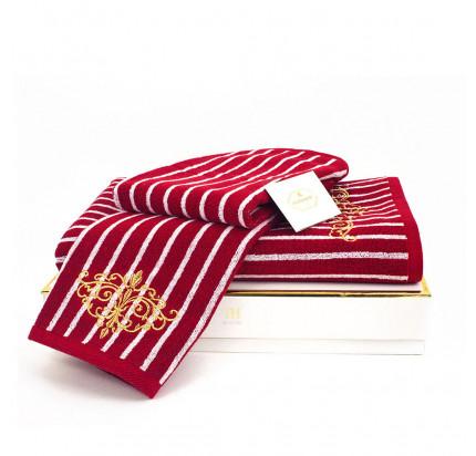 Набор полотенец Tivolyo Casablanca (бордовый) 2 предмета