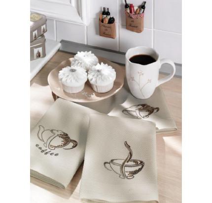Салфетки для кухни Tivolyo Home Coffee (3 предмета) 40х60