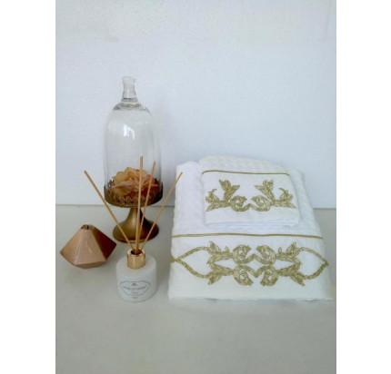Набор вафельных полотенец Tivolyo Home Durante (кремовый, 2 предмета)