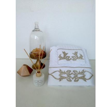Набор вафельных полотенец Tivolyo Home Durante (белый, 2 предмета)