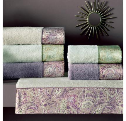 Набор полотенец Tivolyo Etto (фиолетовый) 2 предмета