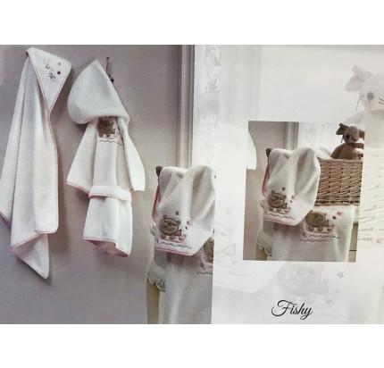 Набор полотенец Tivolyo Home Fishy (2 предмета, розовый)
