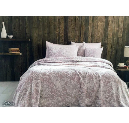 Tivolyo Home Flavia покрывало-пике (грязно-розовое)