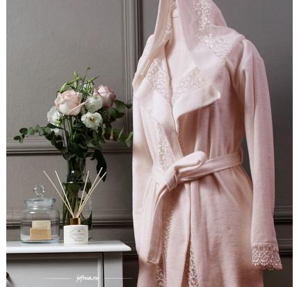 Халат Tivolyo Isabella (розовый) размер S-M + полотенце 50x100