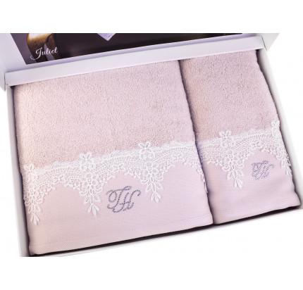 Набор полотенец Tivolyo Juliet (розовый) 2 предмета