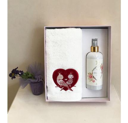 Полотенце Tivolyo Love Birds 50x100 с ароматизатором