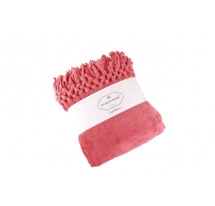 Tivolyo Home Nappa Soft плед (грязно-розовый)