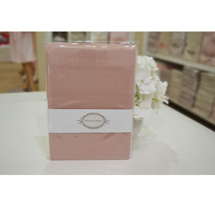 Наволочки Tivolyo Home сатин (темно-розовый)