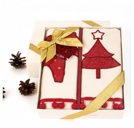 Новогодний набор Tivolyo Home Red Deer (2 предмета, 40х60 см.)