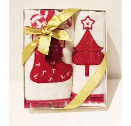 Новогодний набор Tivolyo Home Red Pine (2 предмета, 40х60 см.)
