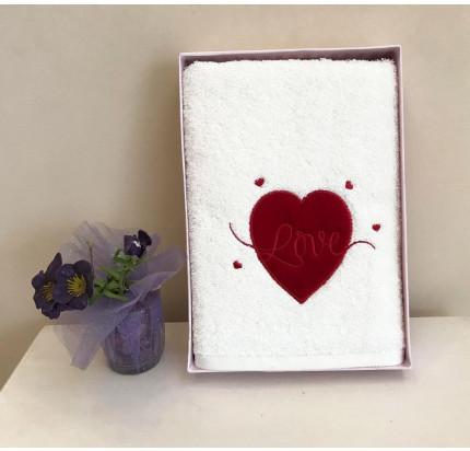 Полотенце Tivolyo Red Love 50x100