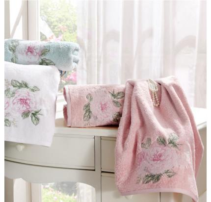 Набор полотенец Tivolyo Rose Nakisli (розовый) 3 предмета