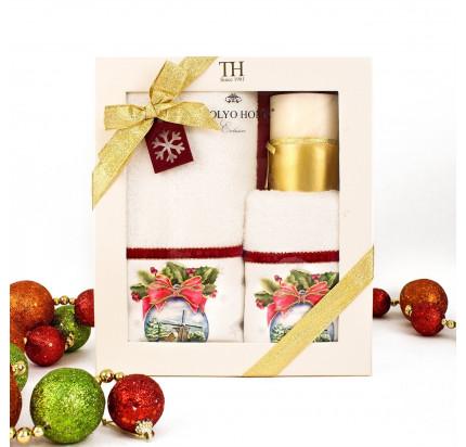 Новогодний набор Tivolyo Home Snowbell Velvet (3 предмета)