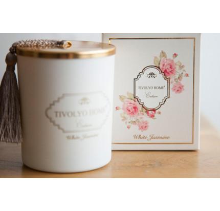 Tivolyo home White Jasmine ароматическая свеча
