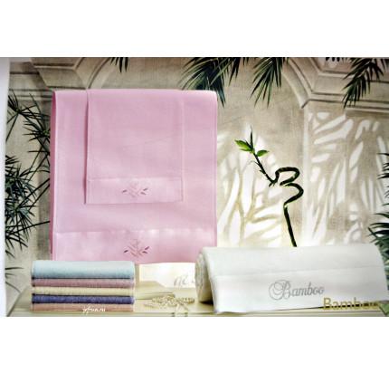 Набор полотенец Tivolyo Bamboo (розовый) 3 предмета