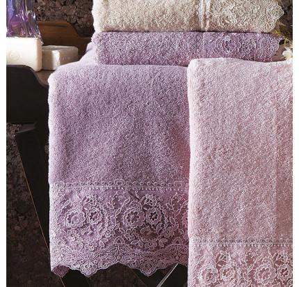 Полотенце Tivolyo Home Elegant (фиолетовый)