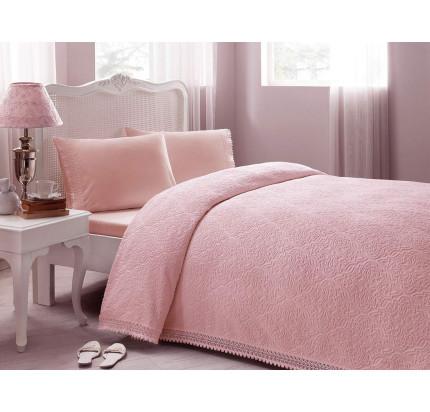 Набор с покрывалом Tivolyo La Perla (розовый) евро